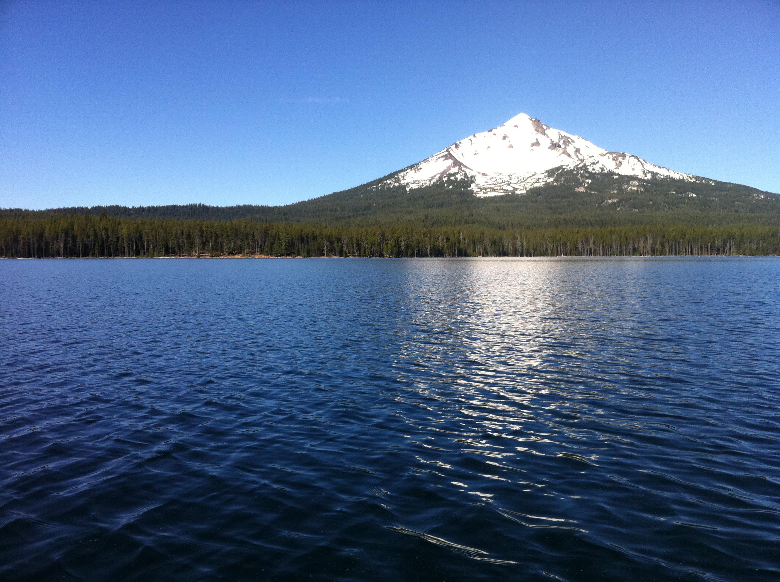 Fourmile Lake & Mt. McLoughlin Views in Southern Oregon